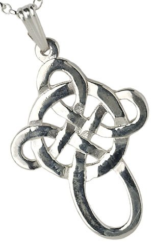 Large Silver Filigree Celtic Cross