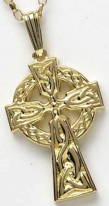 Yellow Gold Celtic Cross