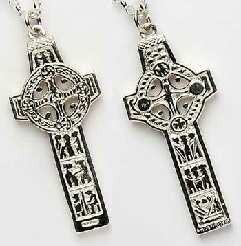Sterling Silver Cross of Scriptures / Clonmacnoise