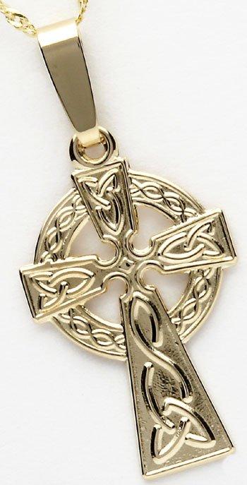 Ladies 10k Yellow Gold Celtic Cross
