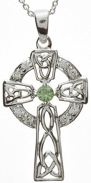emerald set celtic cross
