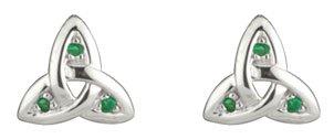 Emerald Set-Celtic Earrings
