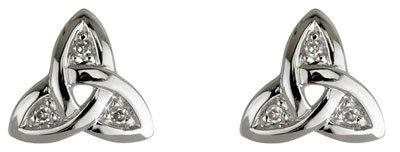 Diamond Celtic Earrings