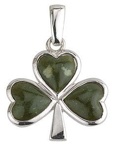 Connemara Marble Shamrock Pendant