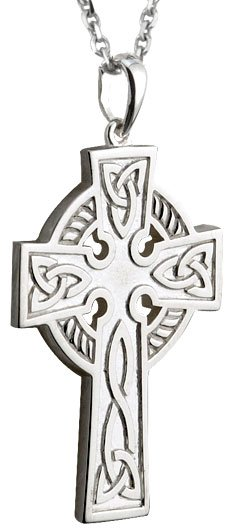 Double Sided Sterling Silver Celtic Cross