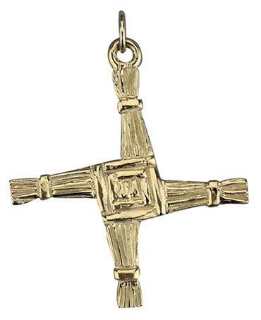 14k Gold St. Brigid's Celtic Cross