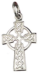 silver embossed Celtic cross pendant