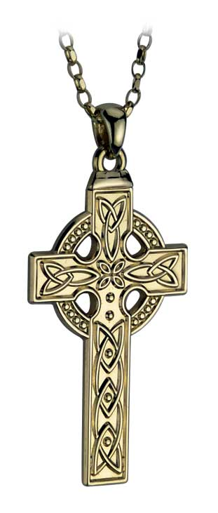 14k Yellow Gold Large Celtic Cross