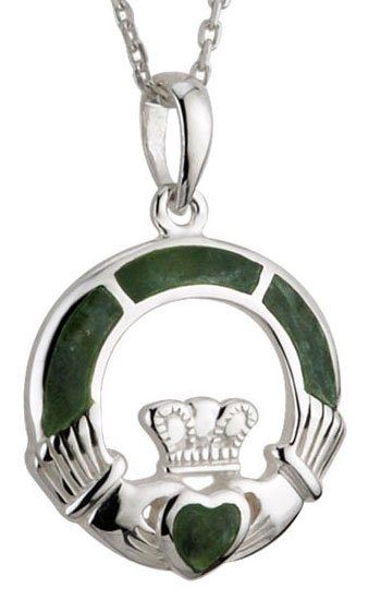Connemara Marble Claddagh Necklace