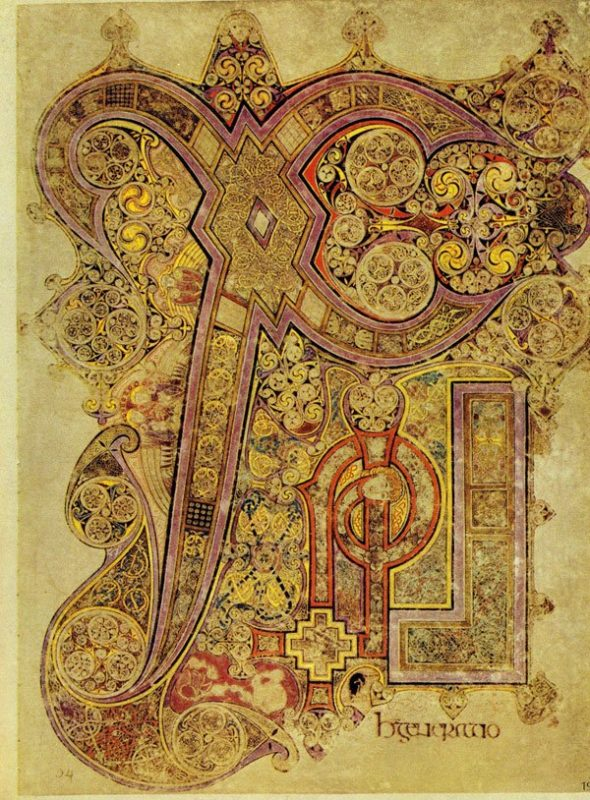 Beautiful detail from The Book of Kells.