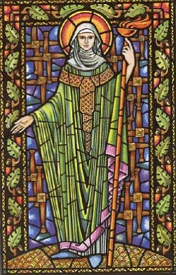 Saint Brigid is one of Ireland's patron saints.