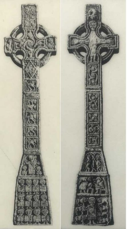 Detailed carving on the Cross of Moone