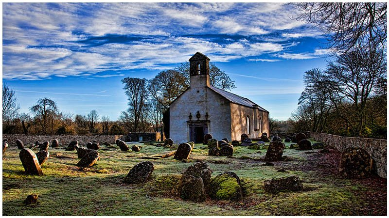 durrow abbey churchyard